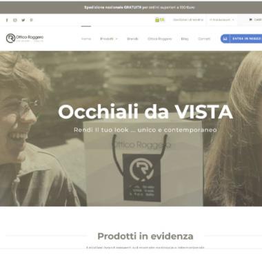Ottico Roggero - sito e-commerce